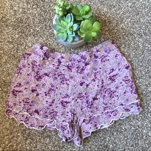 🆕Free People Flowy Shorts Paisley Purple
